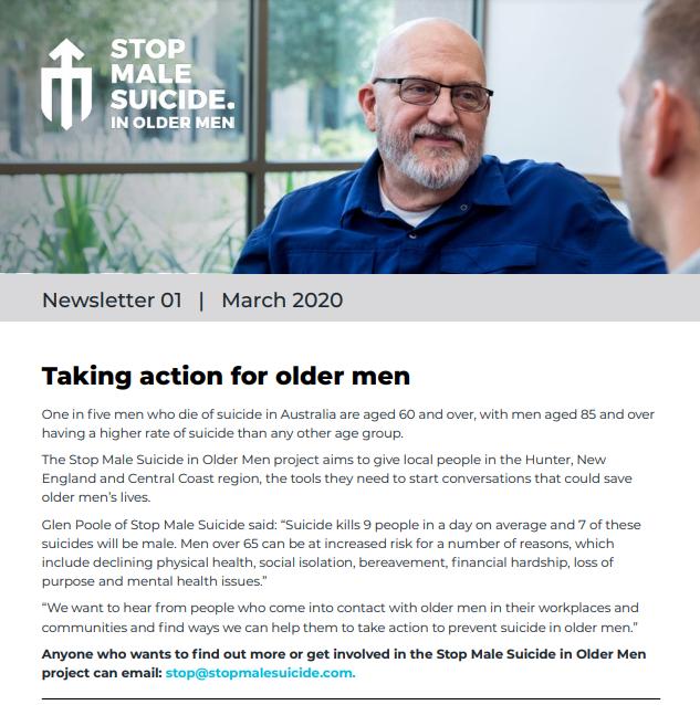 Older male suicide newsletter