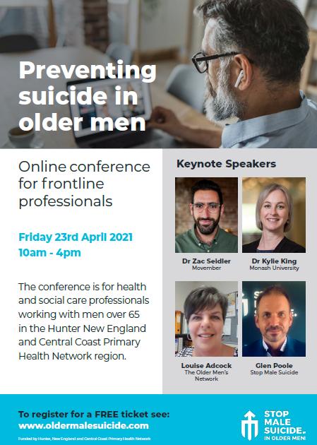 Older male suicide online conference